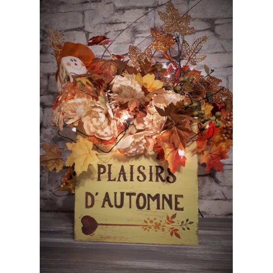 Boite décorative ''Plaisirs d'automne''