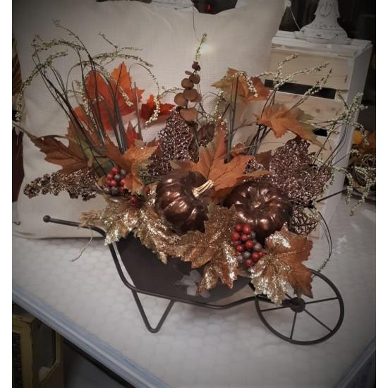 Brouette décorative d'Automne