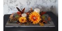 Centre de table décoratif avec chandelles